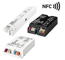 Many LED drivers from Tridonic are already equipped with an NFC interface